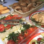 Hog Roast Salads and Fresh Bread Rolls