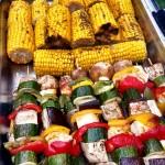 BBQ Menu - Corn And Veg Skewers