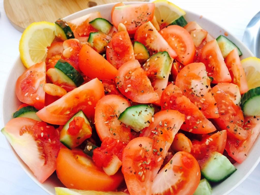Fresh Tomato and Bean Salad