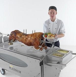 Spittingmn Pig Cheshire Chef