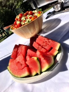 Salad and Watermelon