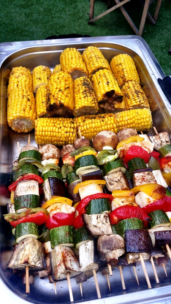 BBQ Menu - Corn And Veg Skewers